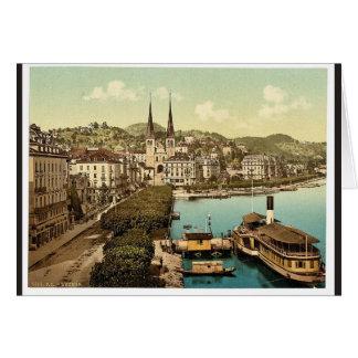 El muelle, los hoteles Schweizerhof y el nacional  Felicitación