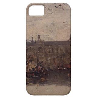 El muelle mercantil de Eugene Boudin iPhone 5 Carcasa