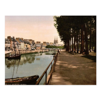 El muelle obra clásica Photochrom de Quimper Fra Tarjetas Postales