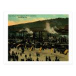 El muelle, vintage de Pittsburgh, Pennsylvania Tarjeta Postal