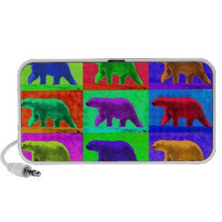 El Multi-Panel del oso polar de Popart del arte po iPhone Altavoces