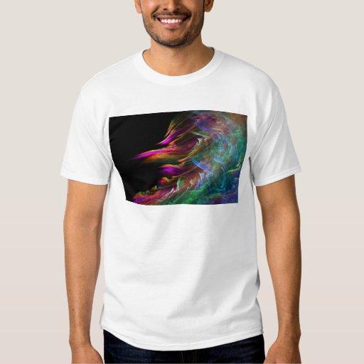 El multicolor abstracto agita en el movimiento remeras