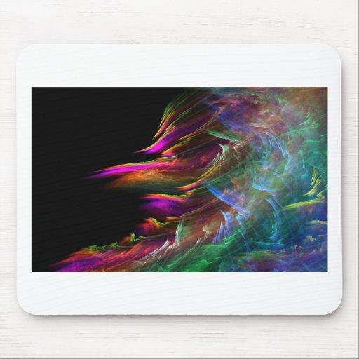 El multicolor abstracto agita en el movimiento tapetes de ratón