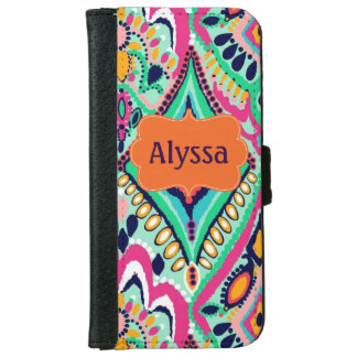 El multicolor personalizó la caja de la cartera funda cartera para iPhone 6