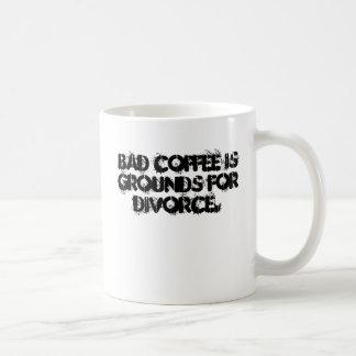 El mún café es argumentos para el divorcio taza clásica