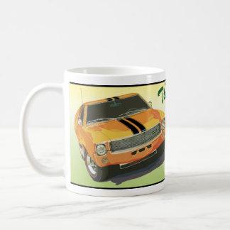 El mún naranja grande tazas de café