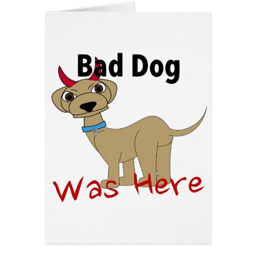 El mún perro estaba aquí felicitacion