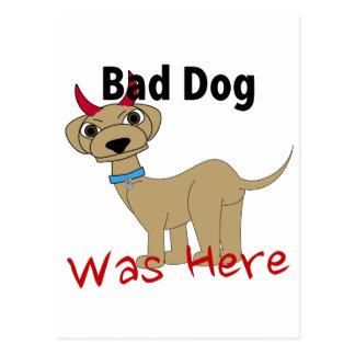El mún perro estaba aquí postal