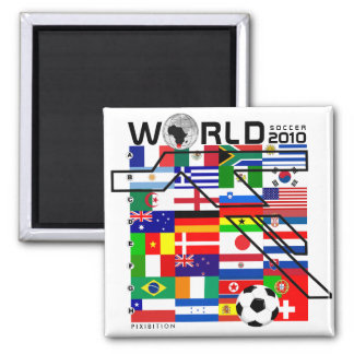 El mundial 2010 todos combina el imán del cuadrado imanes