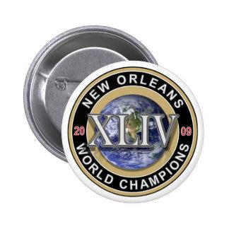 El mundo 2009 de New Orleans defiende el botón del Pin Redondo De 2 Pulgadas