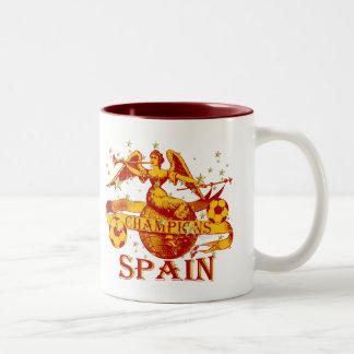 El mundo 2010 de España defiende el fútbol de Taza De Dos Tonos
