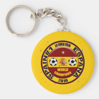 El mundo 2010 de España defiende el fútbol Futbol Llavero Redondo Tipo Pin