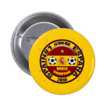 El mundo 2010 de España defiende el fútbol Futbol Pin Redondo 5 Cm