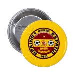El mundo 2010 de España defiende el fútbol Futbol Pin Redondo De 2 Pulgadas