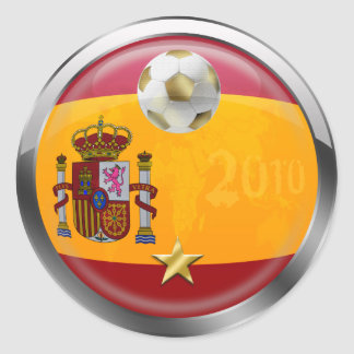 El mundo 2010 de España defiende los regalos de Pegatina Redonda