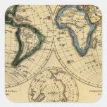 El mundo 3 pegatina cuadrada