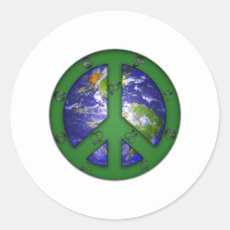 El mundo coexiste pegatina redonda