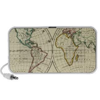 El mundo con límites continentales notebook altavoz