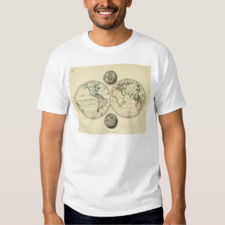 El mundo con límites continentales camisas