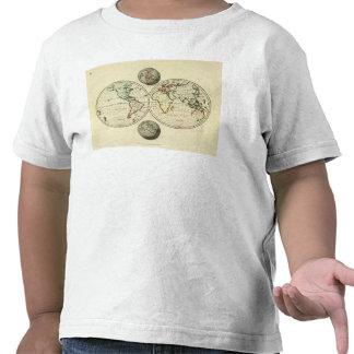 El mundo con límites continentales camisetas