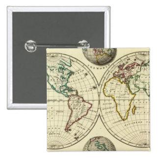 El mundo con límites continentales pin cuadrado