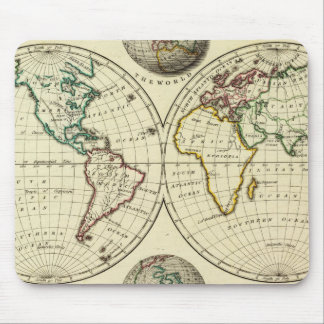 El mundo con límites continentales tapete de ratones