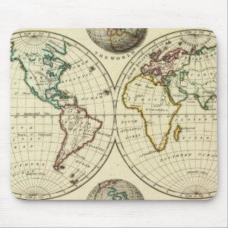 El mundo con límites continentales tapetes de ratones