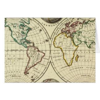 El mundo con límites continentales tarjeta de felicitación