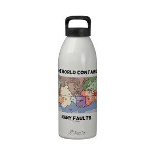 El mundo contiene muchas faltas (la tectónica de p botella de agua reutilizable