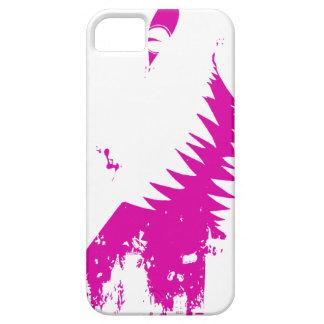 El mundo crece más pequeño - púrpura en blanco iPhone 5 Case-Mate protectores
