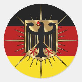 El mundo de Alemania Fussball Deutschland defiende Etiquetas Redondas