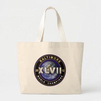 El mundo de Baltimore XLVII defiende el tote del f Bolsa De Tela Grande