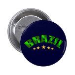 El mundo de cinco estrellas del Brasil defiende lo Pin Redondo De 2 Pulgadas