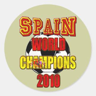 El mundo de España defiende 2010 Pegatina Redonda
