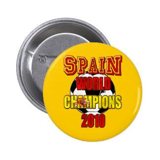 El mundo de España defiende 2010 Pin Redondo 5 Cm