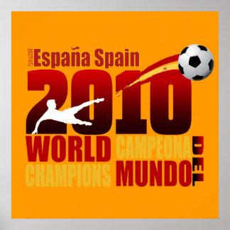 El mundo de España defiende a España 2010 Campeona Posters