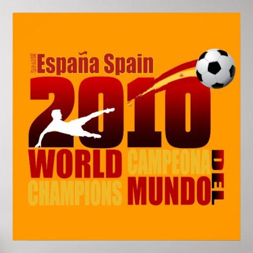 El mundo de España defiende a España 2010 Campeona Póster