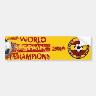 El mundo de España defiende el regalo 2010 del Gru Etiqueta De Parachoque