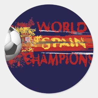 El mundo de España defiende el regalo 2010 del Pegatina Redonda