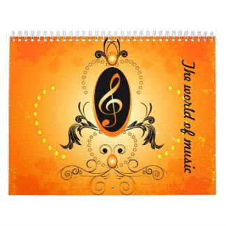 El mundo de la música calendario