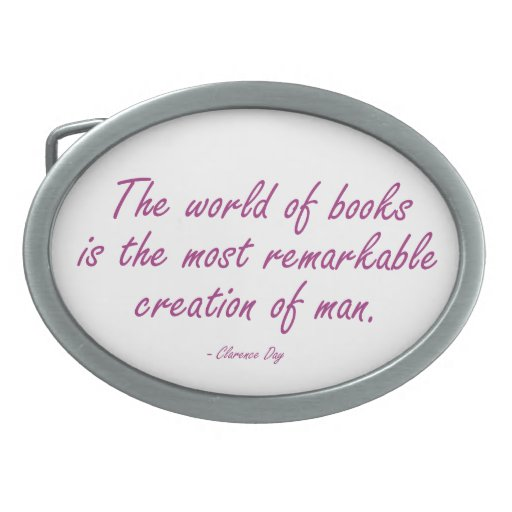 El mundo de libros es la creación más notable hebillas de cinturón ovales
