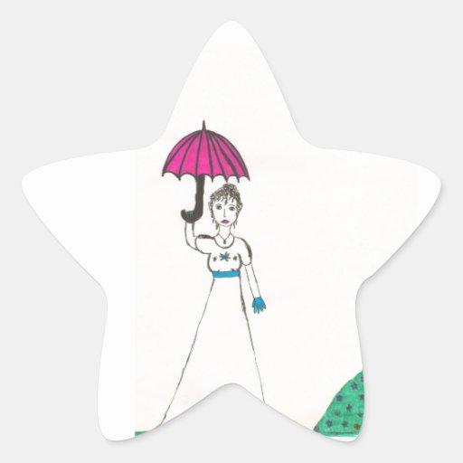 El mundo de los austen de Jane Pegatina En Forma De Estrella