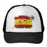 El mundo defiende el balón de fútbol de la bandera gorros bordados