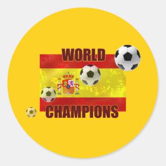 El mundo defiende el balón de fútbol de la bandera pegatina redonda