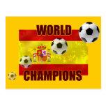 El mundo defiende el balón de fútbol de la bandera postales