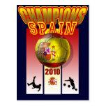 El mundo defiende el futbol 2010 de España Espana Tarjeta Postal