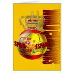 El mundo defiende el futbol 2010 de España Tarjeta De Felicitación