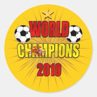 El mundo defiende España 2010 Pegatina Redonda