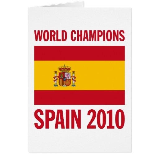 El mundo defiende España 2010 Tarjeta De Felicitación