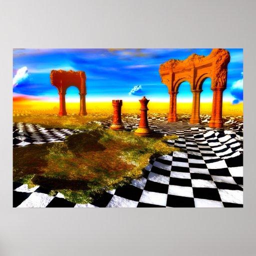El mundo del ajedrez póster